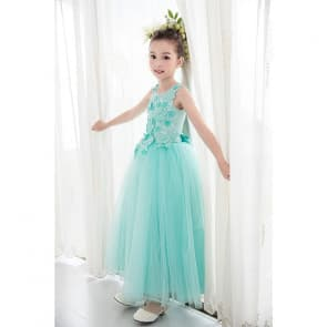 Flora Floral Patches Sleeveless Girls Wedding Princess Dress