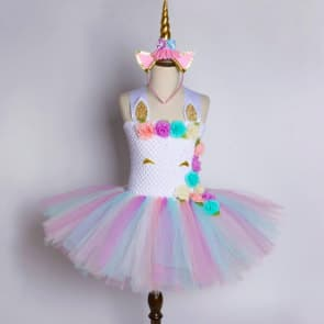 Ariadne Pastel Unicorn Rainbow Tutu Princess Dress